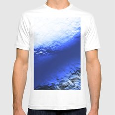 Blue Waves Mens Fitted Tee White MEDIUM
