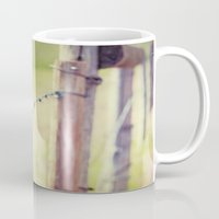 the wire Mugs featuring Barb Wire by The Last Sparrow