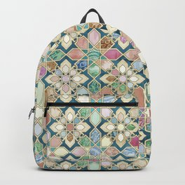 Muted Moroccan Mosaic Tiles Backpack