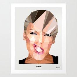 Pink Poly Art Print