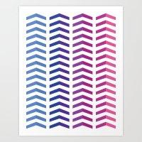 herringbone Art Prints featuring Herringbone by Snowberry Co.