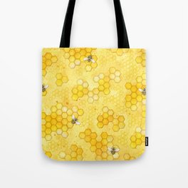 Meant to Bee - Honey Bees Pattern Tote Bag