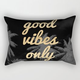 Good Vibes Only Palm Trees Rectangular Pillow