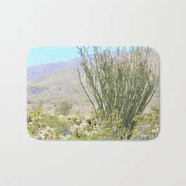 Spring in the Desert with Octotillo by Reay of Light Photography Bath Mat
