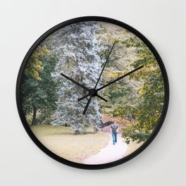 Green Pallete Wall Clock