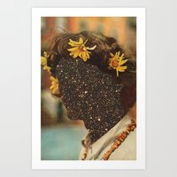 sagan Art Prints featuring Sagan flowers by Mariano Peccinetti