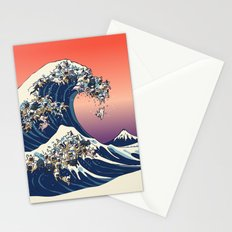The Great Wave Of  French Bulldog Stationery Cards