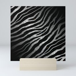 Ripped SpaceTime Stripes - Black/White Mini Art Print