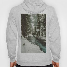 Adventure Awaits River II - Pacific Northwest Nature Photography Hoodie