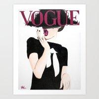 vogue Art Prints featuring Vogue by Alexa L. Epstein