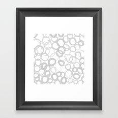 Watercolor Circle Gray Framed Art Print