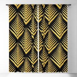 Art Deco 3-D Egyptian Gold Pattern Blackout Curtain