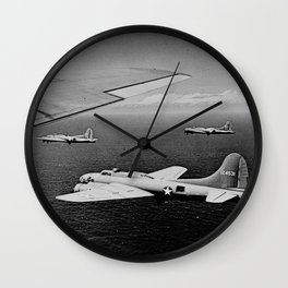 B-17F Flying Fortress Bombers over the Southwest Pacific Wall Clock