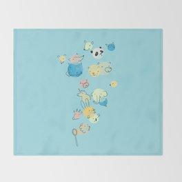 Bubble Animals Throw Blanket
