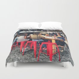 Lunch together Duvet Cover