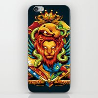 harry potter iPhone & iPod Skins featuring Harry Potter : Hogwarts Houses by anggatantama