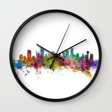 Vancouver Canada Skyline Wall Clock