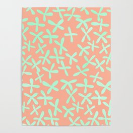 Sweet Life Firefly Peach Coral + Mint Meringue Poster