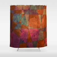 baroque Shower Curtains featuring Baroque Cubism by Tony Vazquez