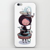 suit iPhone & iPod Skins featuring Bath Suit by Kensausage