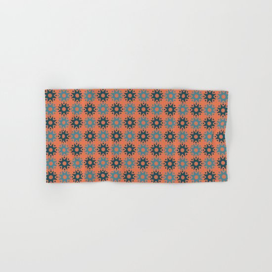 Pattern orange blue Hand & Bath Towel