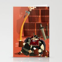 vikings Stationery Cards featuring :::Drunk Vikings::: by Ilias Sounas