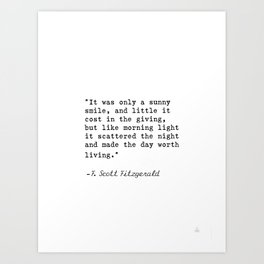 F. Scott Fitzgerald quote 6 Art Print
