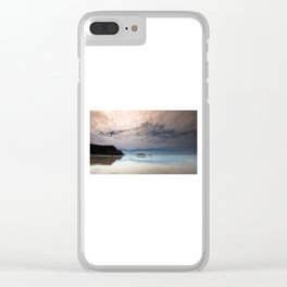 Rhossili bay Gower Clear iPhone Case