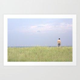 Ocean Stand Art Print