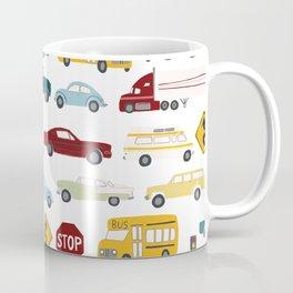 Beep Beep! Cars and Trucks Traffic Pattern Coffee Mug
