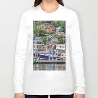 alaska Long Sleeve T-shirts featuring Alaska by Christine Workman