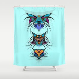 TRIBAL CATS Shower Curtain
