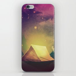Night in th forest iPhone Skin