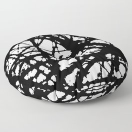 tension, black and white Floor Pillow