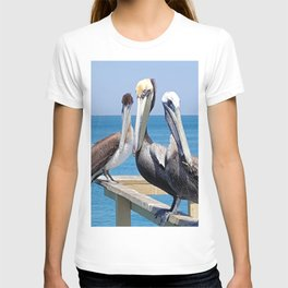 Larry, Curly and Moe Pelicans T-shirt