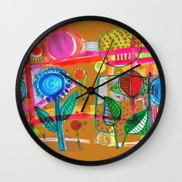 flowery abstact Wall Clock