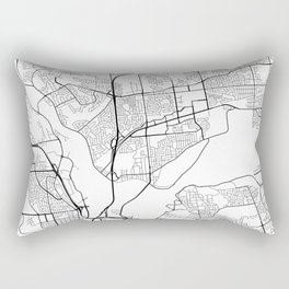 Gatineau Map, Canada - Black and White Rectangular Pillow