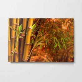 Bamboo Beginnings Metal Print