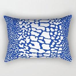 ANIMAL PRINT SNAKE SKIN BLUE AND WHITE PATTERN Rectangular Pillow