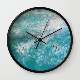Into the Ocean - JUSTART © Wall Clock