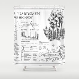 Four Guardsman General Highway - Generals Highway, Three Rivers, Tulare County, CA Shower Curtain