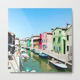 Burano Italy Venice Metal Print