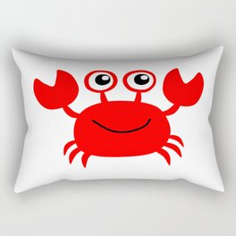 Funny red crab cartoon Rectangular Pillow
