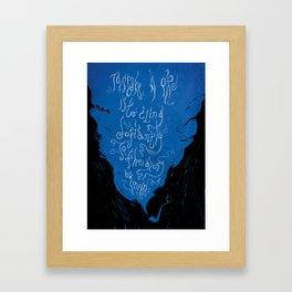 To Smoke a Pipe Framed Art Print