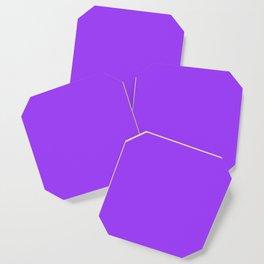 Bright Fluorescent Neon Purple Coaster