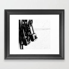 Padlock Framed Art Print