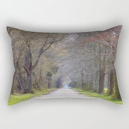 Trees parting the road   Wye Island, MD   Minimalist landscape photography Rectangular Pillow