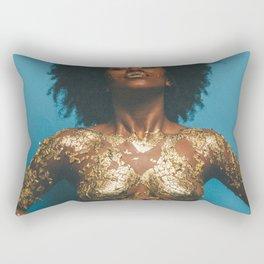 Gold and Skin Rectangular Pillow