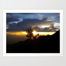 Sunset Over Albuquerque Art Print
