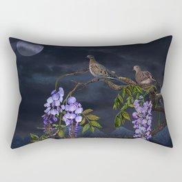 Doves In Moonlight Rectangular Pillow